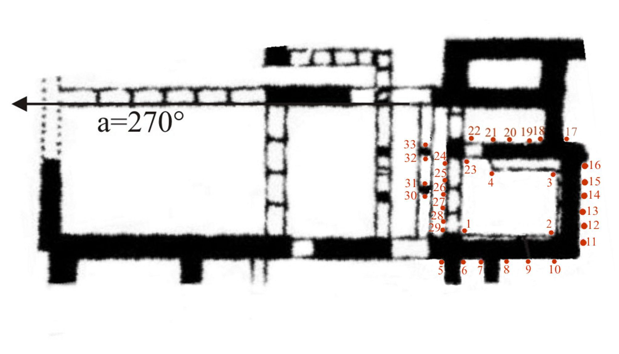 Plan of bench room