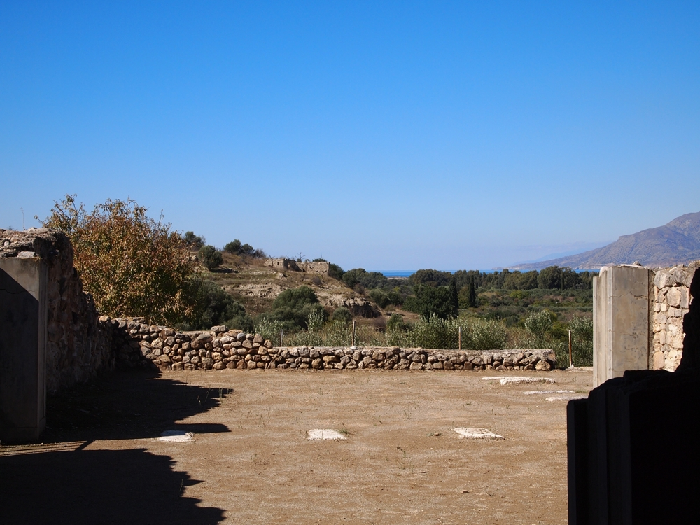 Agia Triada with view to west from the pillared hall