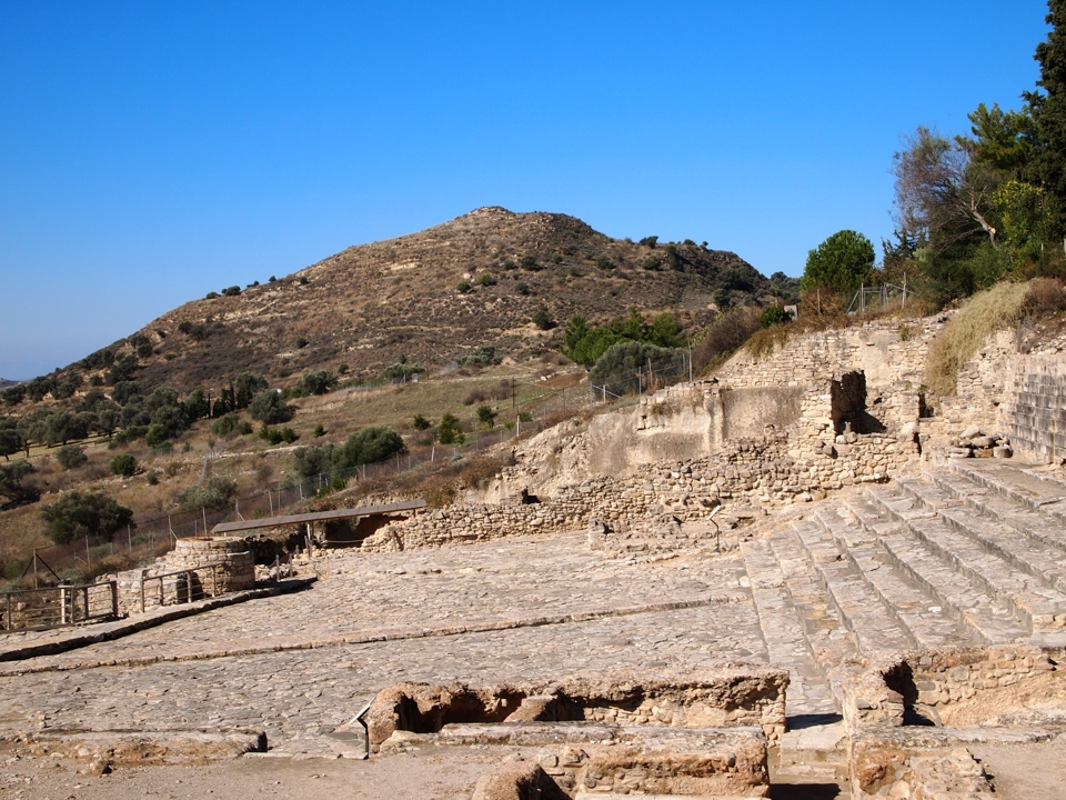 View to the west from the palace at Phaistos